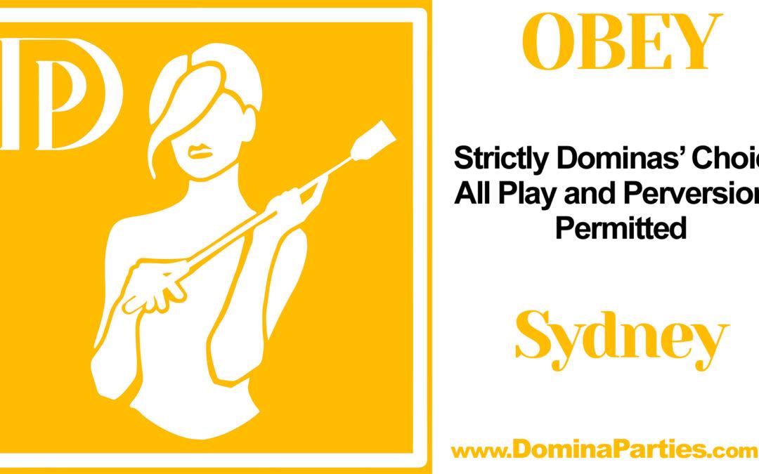 Sydney Obey! Dominas Choice ~ 28 December 2019