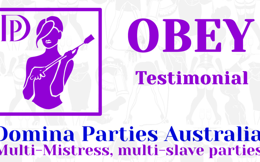 Testimonial: Obey! 15 September 2019