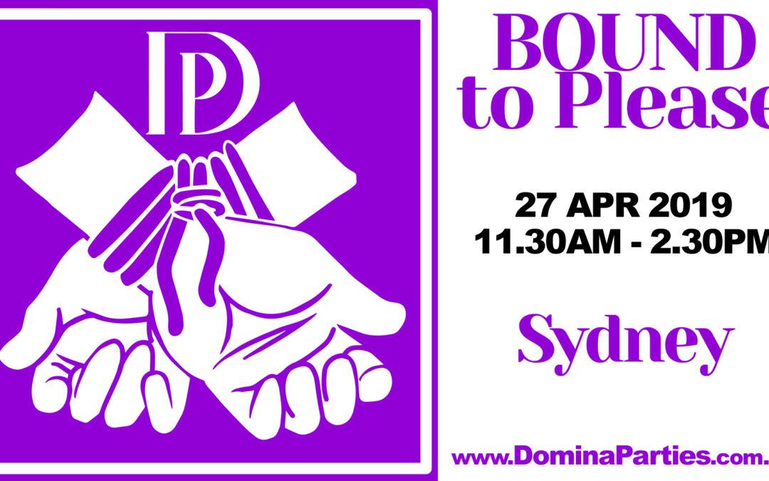 Sydney Bound To Please ~ 27 April 2019