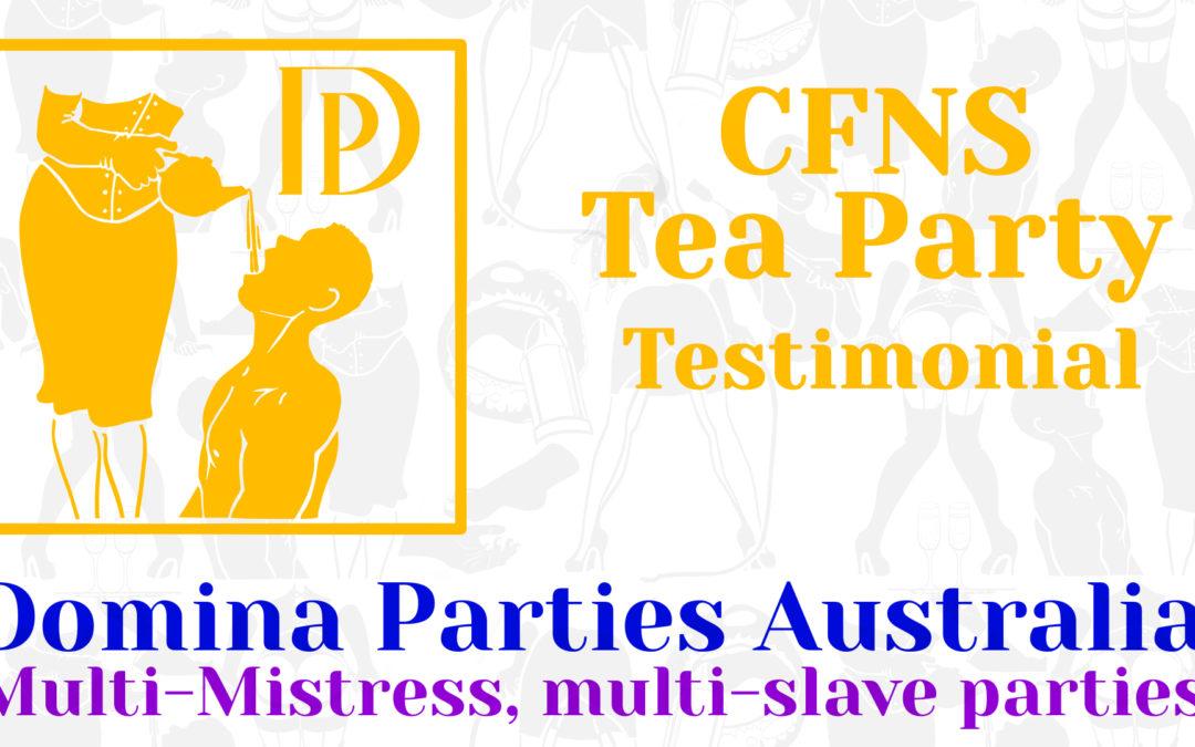 Testimonial: CFNS Tea Party 23 November 2019